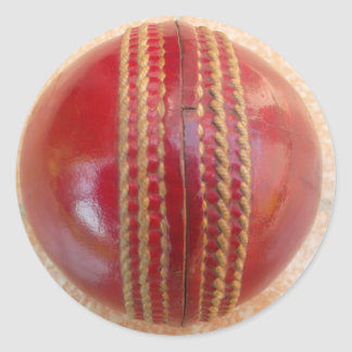 Cricket Ball.jpg Classic Round Sticker