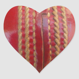 Cricket Ball.jpg Heart Sticker