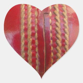 Cricket Ball.jpg Heart Sticker