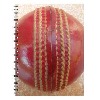Cricket Ball.jpg Spiral Notebook