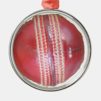 Cricket BALL Metal Ornament