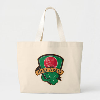 cricket ball shamrock Ireland shield Tote Bags