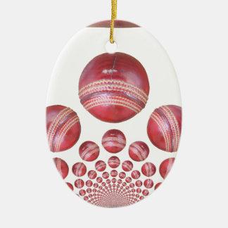 cricket balls pro ceramic ornament