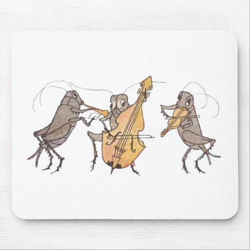 Cricket Band with Horn, Cello & Violin Mouse Pad