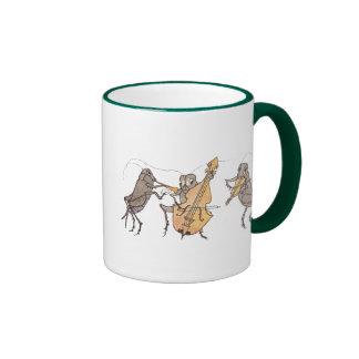 Cricket Band with Horn, Cello & Violin Ringer Coffee Mug