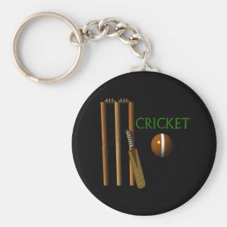 Cricket Basic Round Button Keychain