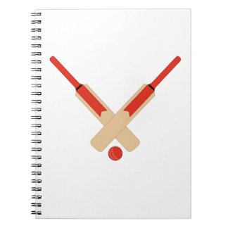 Cricket Bat and Ball Notebook