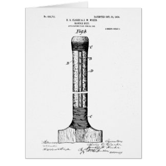 CRICKET BAT PATENT - CIRCA 1906 CARD