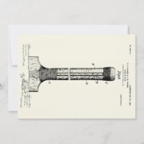 CRICKET BAT PATENT - CIRCA 1906 CARD