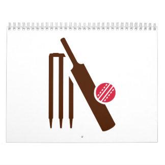 Cricket bat stumps wall calendars