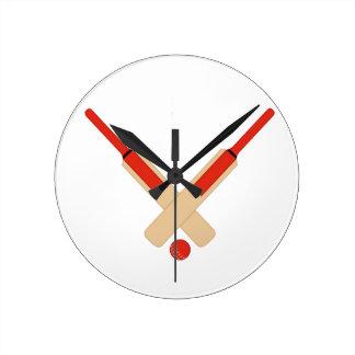 Cricket Bats and Ball Wall Clock