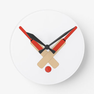 Cricket Bats and Ball Wall Clock