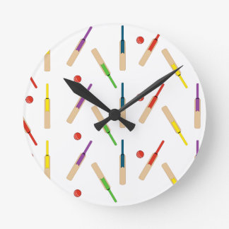 Cricket Bats and Balls  Wall Clock