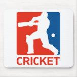 cricket batsman batting silhouette mouse pad