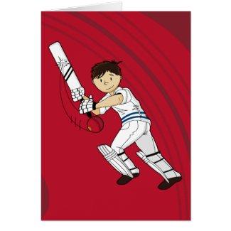 Cricket Batsman Card card