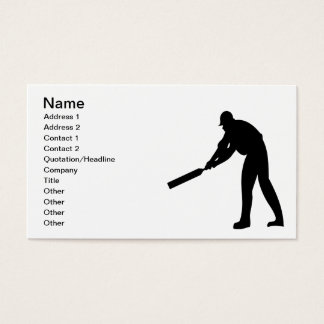 Cricket Batter Business Card
