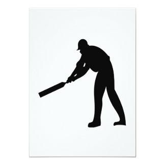 Cricket Batter 5x7 Paper Invitation Card