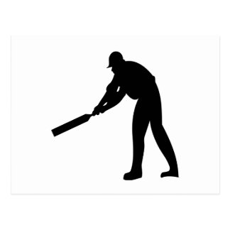 Cricket Batter Postcard