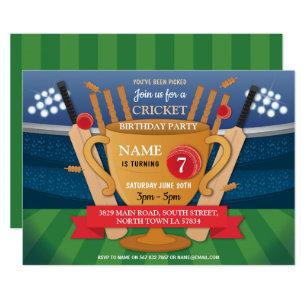 Cricket Invitations Zazzle