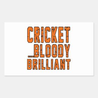 Cricket Bloody Brilliant Rectangular Sticker