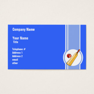 Cricket; blue business card
