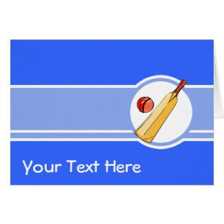 Cricket; blue greeting card