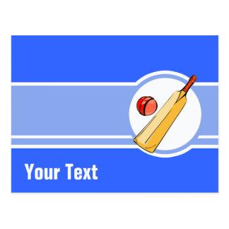 Cricket; blue postcard