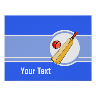 Cricket; blue poster