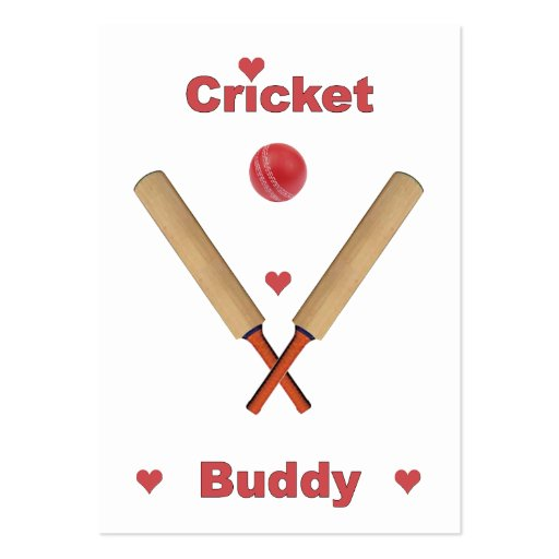Cricket Buddy Large Business Cards (Pack Of 100)