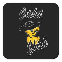 Cricket Chick #4 Square Sticker