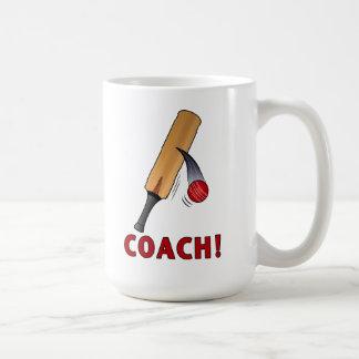 Cricket Coach Bat and Ball Coffee Mug
