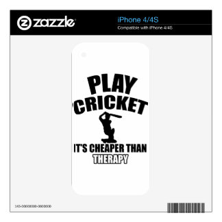 cricket   design decal for the iPhone 4S