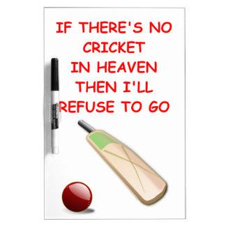 cricket Dry-Erase board