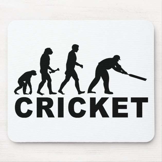 Pad /& Coaster Evolution Of A Cricket Player Mouse Mat