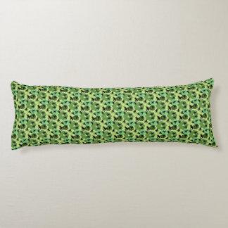 Cricket Floral Pattern Green + Black Body Pillow