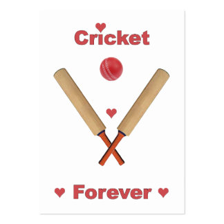Cricket Forever Hearts Business Card Templates