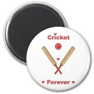 Cricket Forever Hearts 2 Inch Round Magnet