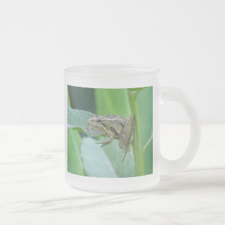 Cricket Frog Frosted Glass Coffee Mug