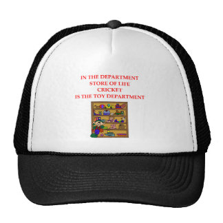 CRICKET gifts and t-shirts Hats