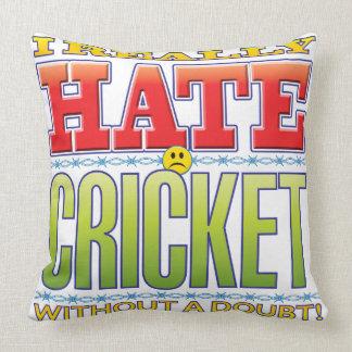 Cricket Hate Face Throw Pillow