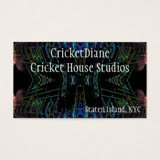 Cricket House Studios CricketDiane Futuristic Business Card