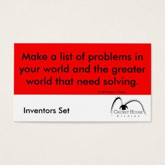 Cricket House Studios Inventors Cards 2a