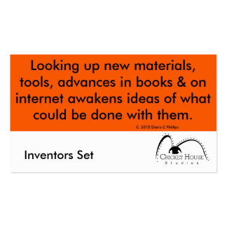 Cricket House Studios Inventors Cards 4a Double-Sided Standard Business Cards (Pack Of 100)