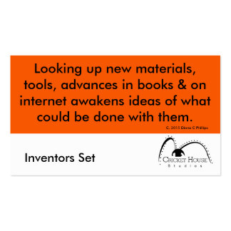 Cricket House Studios Inventors Cards 4b Double-Sided Standard Business Cards (Pack Of 100)