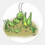 Cricket hug.JPG Round Stickers