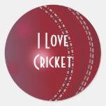 "Cricket: ""I Love Cricket"" Round Stickers"