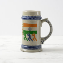 Cricket India Beer Stein
