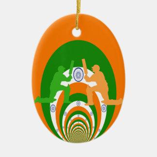 Cricket India Ceramic Ornament