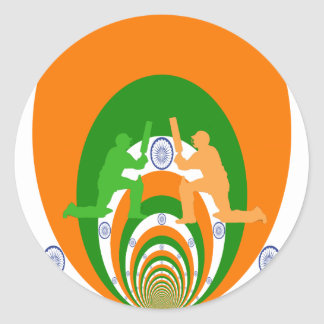 Cricket India Classic Round Sticker