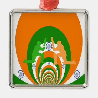Cricket India Metal Ornament